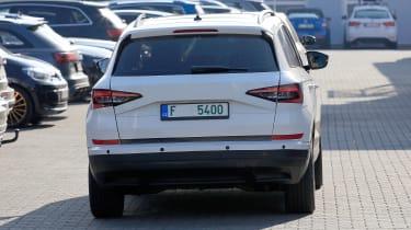 Skoda karoq spy shot rear