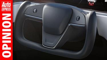 Opinion Tesla steering wheel