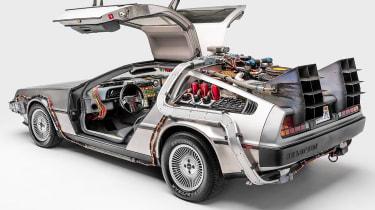 Petersen Automotive Museum - DMC DeLorean Back to the Future - rear static