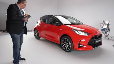 Toyota Yaris - front 3/4 static studio with John