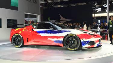 Lotus Evora GT4 Concept - Shanghai side/front