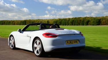 Porsche Boxster front tracking