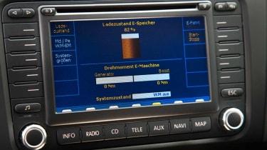 VW Golf Plug-in Hybrid display