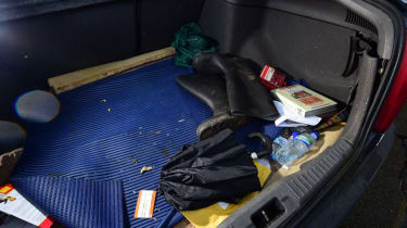 Used Toyota Avensis boot of stuff