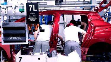 Nissan Leaf long termer first report - factory work