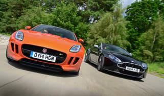 Jaguar F-Type vs Aston Martin V8 Vantage