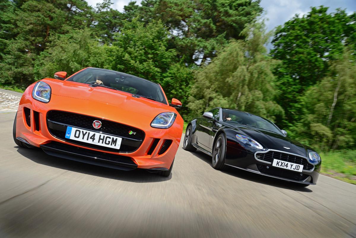 Jaguar F Type Coupe Vs Aston Martin V8 Vantage Auto Express
