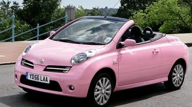 Pink Nissan Micra