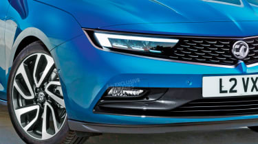 New Vauxhall Astra - front detail (watermarked)