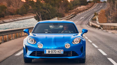 Alpine A110 - full front action