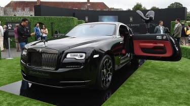 A Black Badge version of the Rolls-Royce Wraith joined the Dawn at Goodwood.