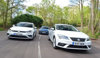 SEAT Leon vs Volkswagen Golf vs Vauxhall Astra - header