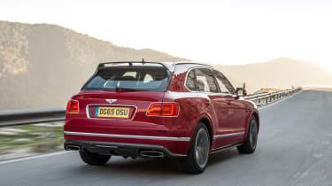 Bentley Bentayga luxury SUV rear tracking