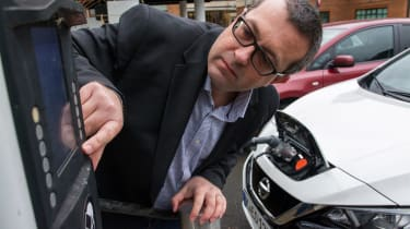 Nissan Leaf - John McIlroy charging