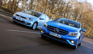 Volkswagen Golf Bluemotion vs Mercedes A180 CDI ECO header