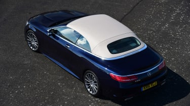 Convertible megatest - Mercedes S 500 Convertible - above roof up