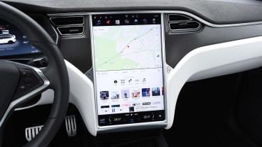 Tesla Model X - screen