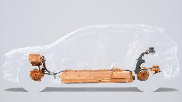 Volvo XC40 EV teaser - drivetrain