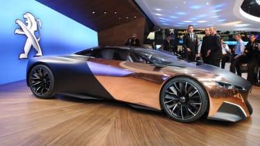 Peugeot Onyx supercar front three-quarters