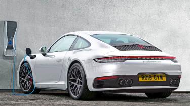 Porsche 911 hybrid - rear (watermarked)