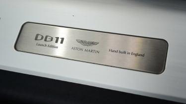 Aston Martin DB11 - plaque