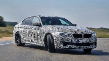 BMW M5 prototype - front action drift
