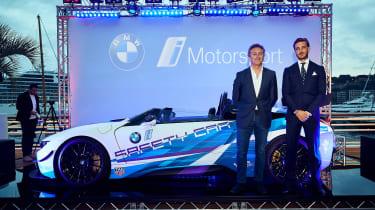 BMW i8 Roadster Formula E safety car - side reveal