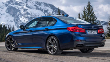 bmw m550i static rear