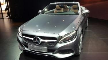 Mercedes C-Class Cabriolet - front silver show
