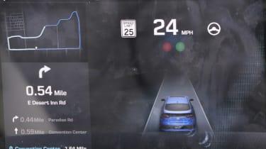 Hyundai Ioniq autonomous - screen info