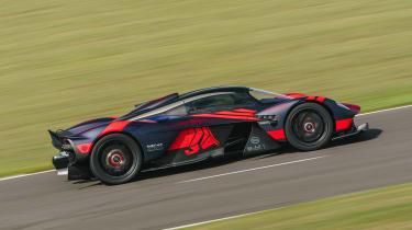 Aston Martin Valkyrie - testing at Silverstone