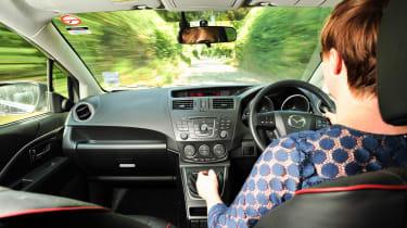 Mazda 5 driving