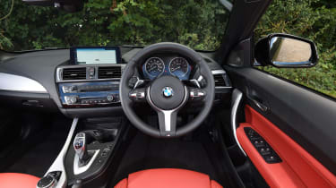 BMW M240i Convertible  interior