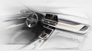 Kia SUV interior sketch