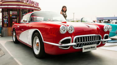The totally retro Songsan SS Dolphin a PHEV shamelessly styled on a C1 Corvette.