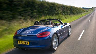 Porsche Boxster - blue rear tracking