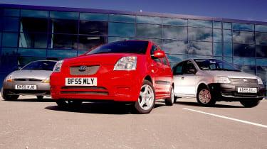 Ford Ka v Kia Picanto v Fiat Panda