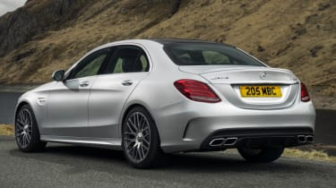 Mercedes C63 AMG saloon - static rear