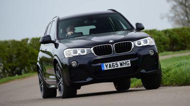 BMW X3 - front cornering