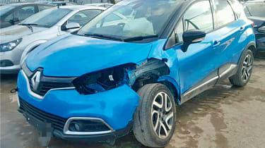 Crashed Renault Captur