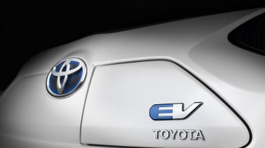 Toyota electric car badge