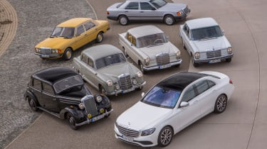 70 years of Mercedes E-Class - group 3