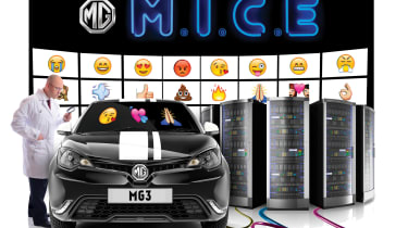 MG's voice controlled emoji windscreens