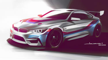 BMW M4 GTS sketch