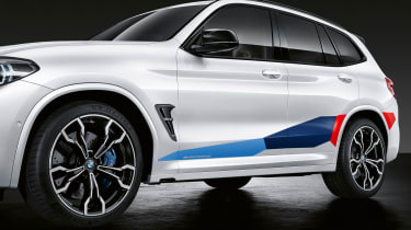BMW X3 M with M Performance parts - side