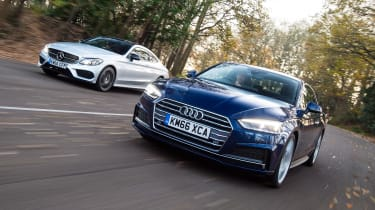 Audi A5 vs Mercedes C- Class Coupe - head-to-head