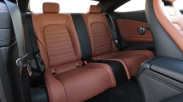 mercedes-amg c 43 coupe interior rear seats legroom