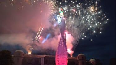 Goodwood sculpture fireworks