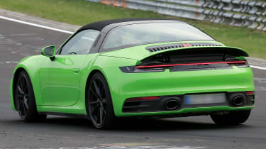 Porsche 911 Targa spies - rear 3/4