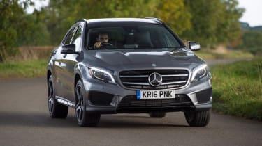 Mercedes GLA - front action cornering